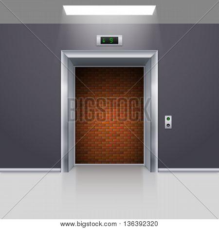 Realistic Elevator with Open Door with Deadlock