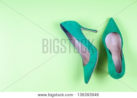 A Picture Of Different Shoes, Shot Of Several Types Of Shoes, Several Designs Of  Women Shoes. Leath