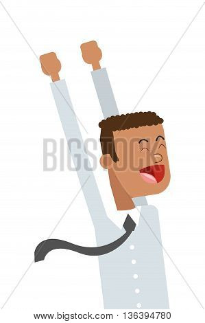 flat design goofy businessman icon vector illustration