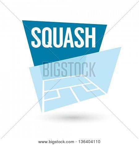 modern squash sign