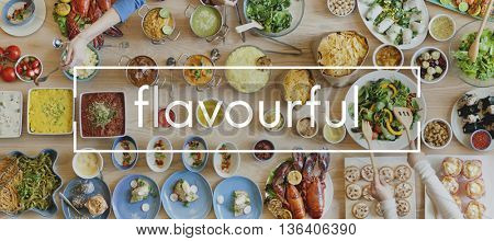 Delicious Flavourful Tasty Food Buffet Restaurant Concept