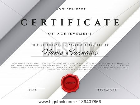 Template Certificate Design Silver Vector Photo Bigstock