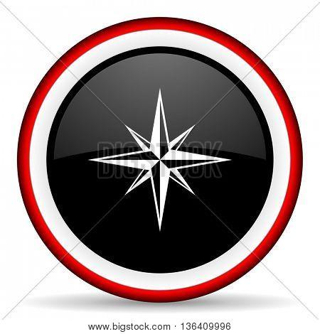 compass round glossy icon, modern design web element