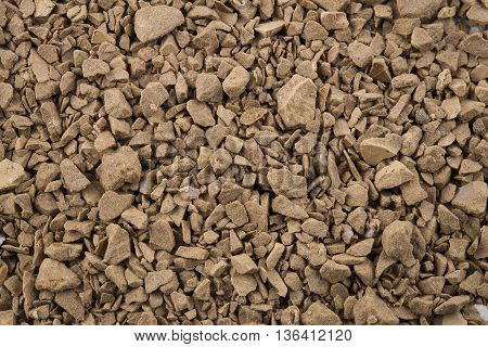 Background of close focus on premium brown decaf coffee powder