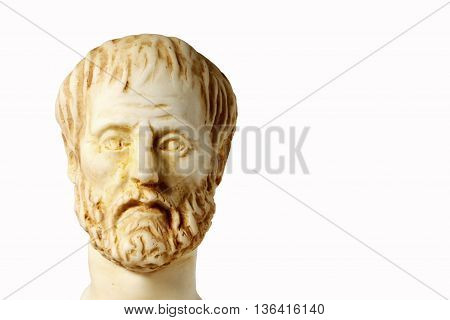 White Marble Bust Of The Greek Philosopher Aristotle