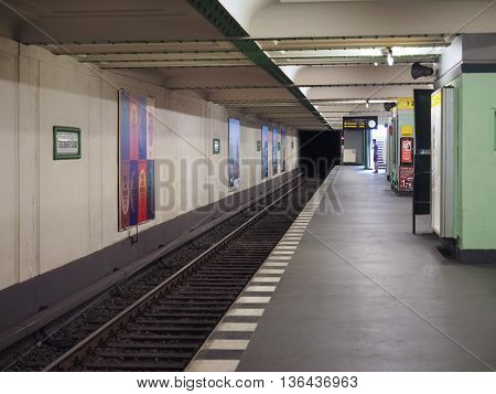 Franzoesische Strasse Subway Station In Berlin
