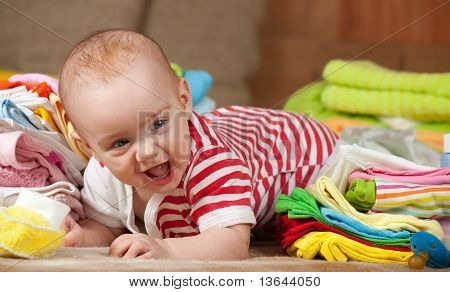 Baby Girl With Children's Wear