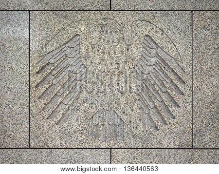 Deutscher Bundestag Eagle In Berlin