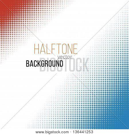 color halftone design elements. Stock vector illustration