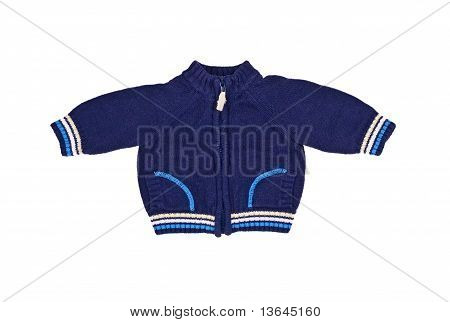 Blue Sweater For The Newborn