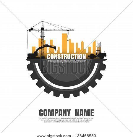 Construct building logo, Building logo, construction concept. vector