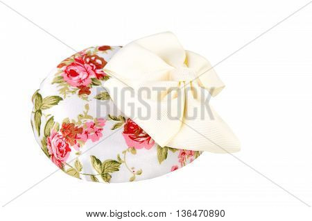 pillbox hat. lady's hat isolated on a white background