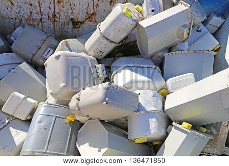 Gas Meters In The Industrial Landfill Methane
