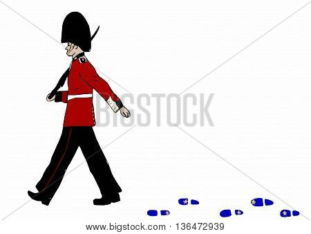 Royal Guard metaphor image with armed soldier
