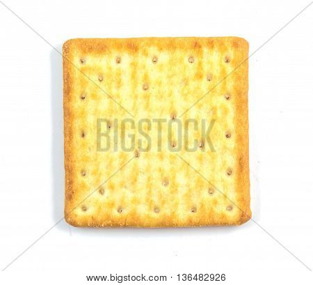 Cracker isolated on white background , overview