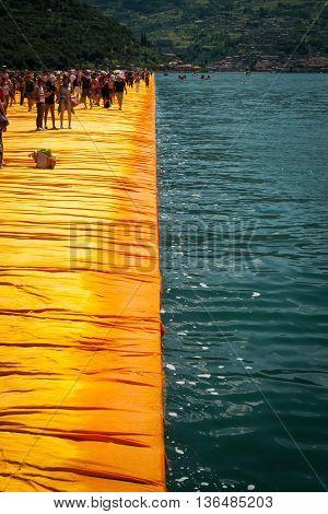 Floating Piers Longest Walkway Edge