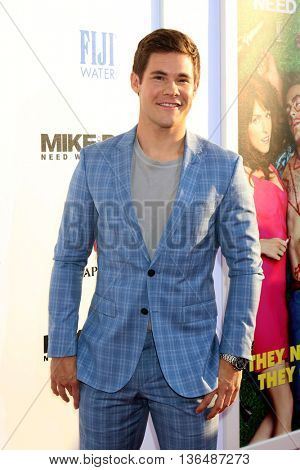 LOS ANGELES - JUN 29:  Adam Devine at the Mike And Dave Need Wedding Dates Premiere at the Cinerama Dome at ArcLight Hollywood on June 29, 2016 in Los Angeles, CA