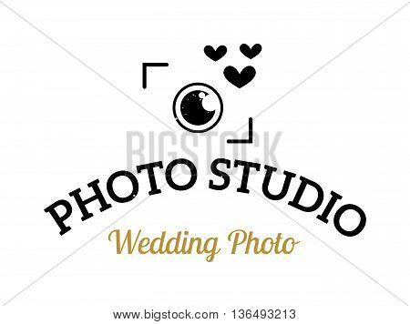 Photography and photo studio logo badge. Vector photographer logo design element, business sign, identity, label badge. Photo studio branding objects business photographer logo.