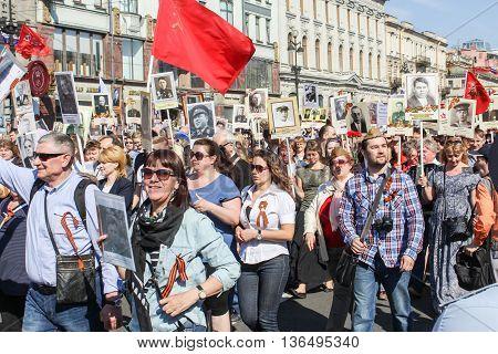 St. Petersburg, Russia - 9 May,