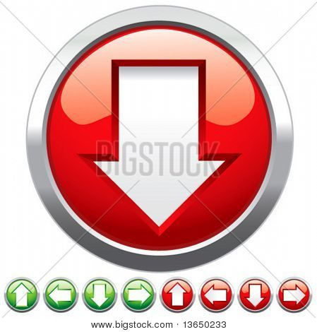 Set buttons for web design. vector