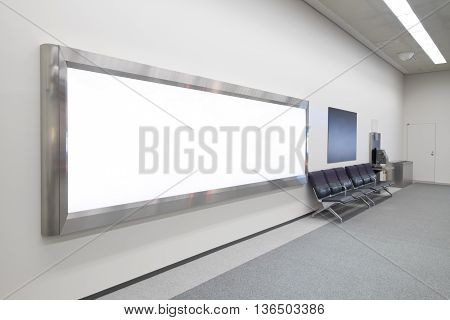 Blank Billboard in airport great for your design shot in asia japan
