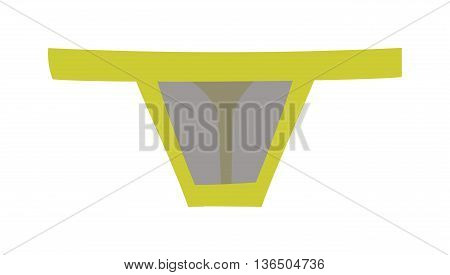 Fashion colorful lace g string thong panties, isolated on white background. Thong underpants fashion isolated pants female clothing lace underclothes. Style seductive beauty thong underpants.
