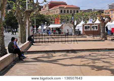 Cannes France - april 17 2016 : the picturesque old city center