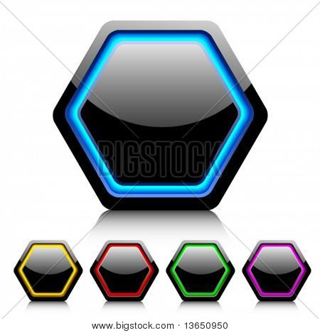 Cell buttons for web design. Vector.
