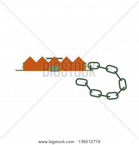Hunting ammunition. Cartoon trap icon, vector illustration