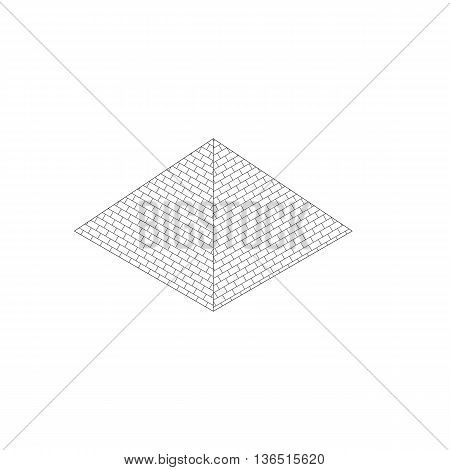 Simple isometric egypt piramid icon isolated on white background vector illustration