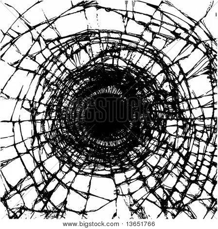 Illustration of a broken glass. Vector.