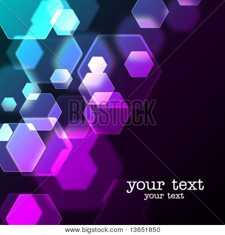 Abstract background with bokeh effect. Vector.