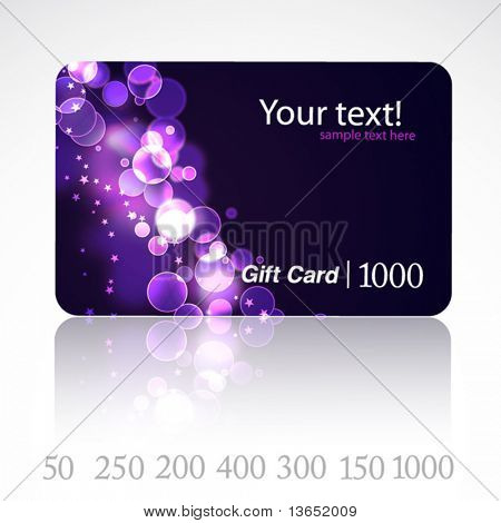 Beautiful gift card. Vector.