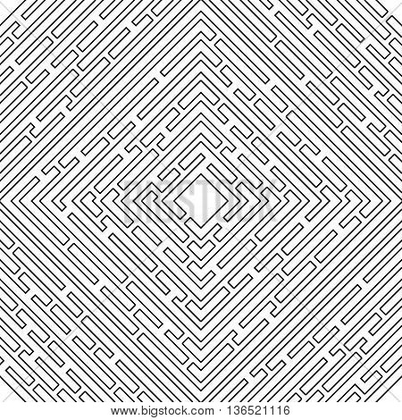 Seamless pattern with outline maze. Abstract vector background with a maze. Probably used for banners brochures flyers business cards envelopes letterheads. Vector illustration.