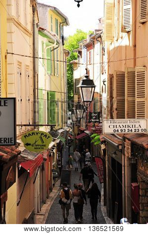 Antibes France - april 15 2016 : the picturesque city in spring