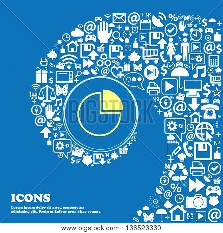 Infographic Icon . Nice Set Of Beautiful Icons Twisted Spiral Into The Center Of One Large Icon. Vec
