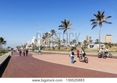 People Walking On Promenade In Durban 3