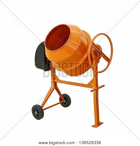 Concrete mixer isolated with clipping path included
