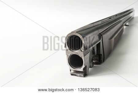 Conducted at our large gun barrel on a white background.