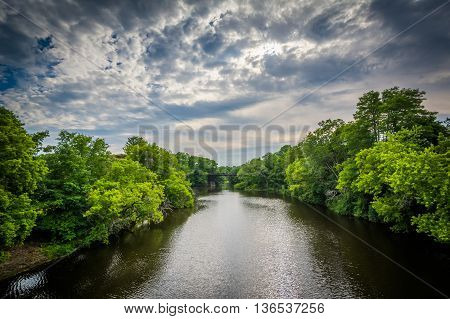 The Cochecho River, In Dover, New Hampshire.
