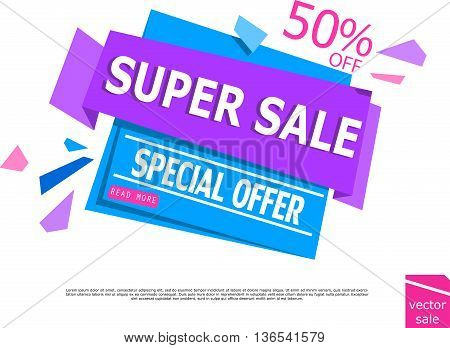 Sale Banner Design. Sale banner template for your promotional brochure or booklet, posters, advertising shopping flyers, discount banners.