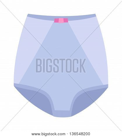 Female panties types control briefs vector icons. Woman underwear fashion styles control briefs collection. Underclothes control briefs design elements classic briefs, bikini, string, tanga, thong.