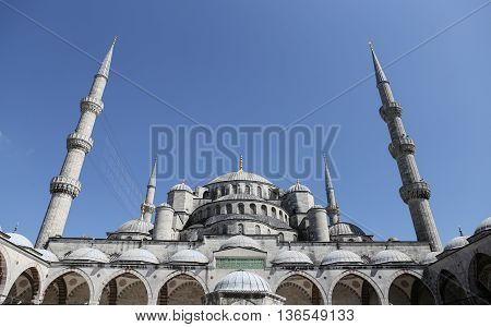 Sultanahmet Blue Mosque in Istanbul City Turkey