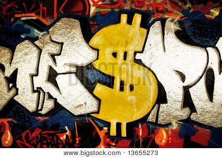 Graffiti Dollar sign poster