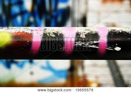 Abstract Macro Graffiti image