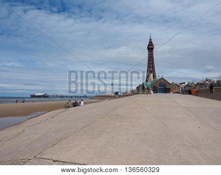 Pleasure Beach And Tower In Blackpool