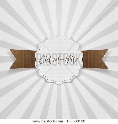 Eid al-Fitr decorative festive Badge. Vector Illustration