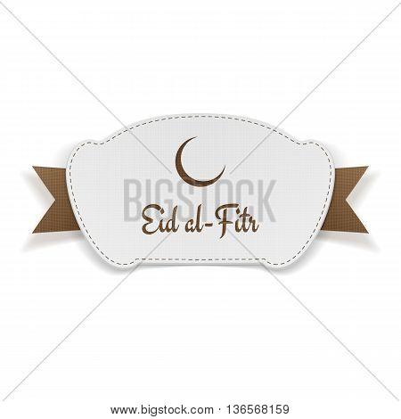 Eid al-Fitr festive paper Banner. Vector Illustration
