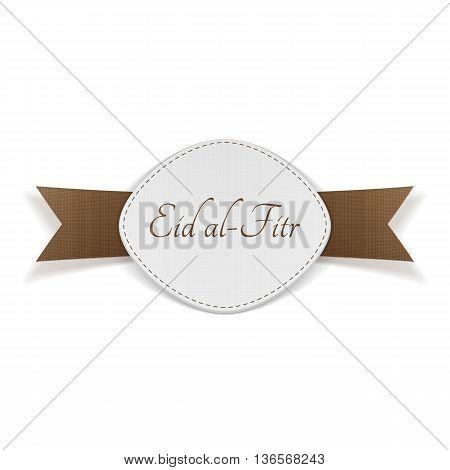 Eid al-Fitr muslim festive Banner. Vector Illustration