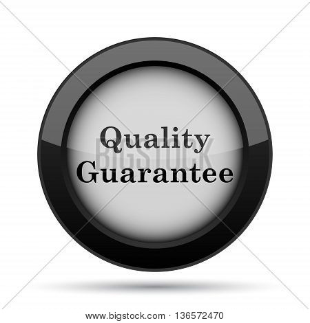 Quality guarantee icon. Internet button on white background. poster
